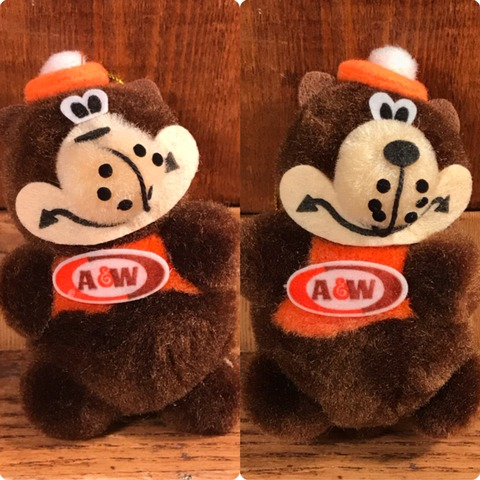 Vintage A&W Rootbeer Bear Ornament Doll