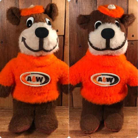 Vintage A&W Rootbeer Bear Plush Doll (2)