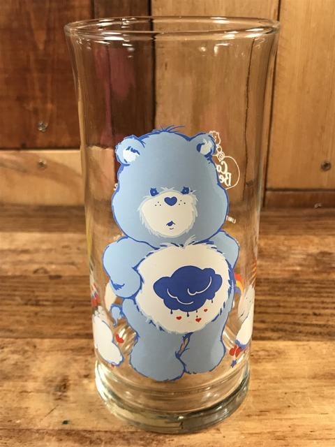 "Vintage Pizza Hut Care Bears ""Grumpy Bear"" Glass (1)"