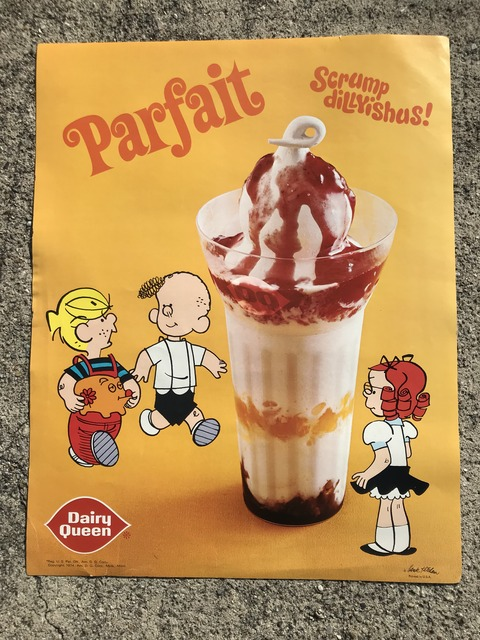 Vintage Dairy Queen Dennis The Menace Poster (2)