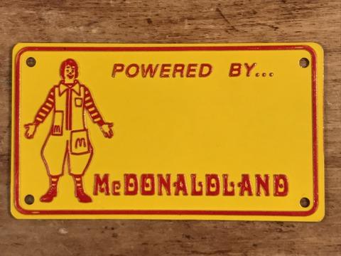 "Vintage McDonaldland ""Ronald"" Metal License Plate (1)"