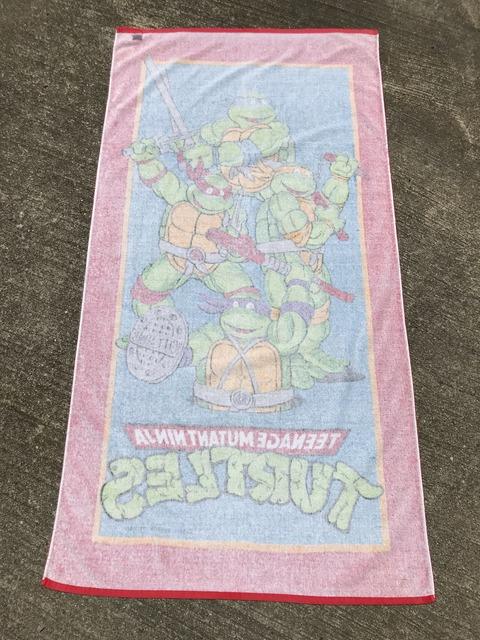 Vintage Teenage Mutant Ninja Turtles Beach Towel (14)