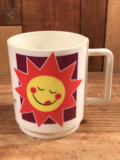 "Vintage Kellogg ""Raisin Bran Sun"" Plastic Mug (1)"