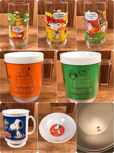 Vintage Peanuts Snoopy Glass Item (2)
