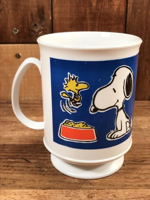 Vintage Peanuts Snoopy & Woodstock Plastic Mug (4)