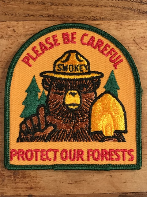 "Vintage Smokey Bear ""Please Be Careful"" Patch (1)"