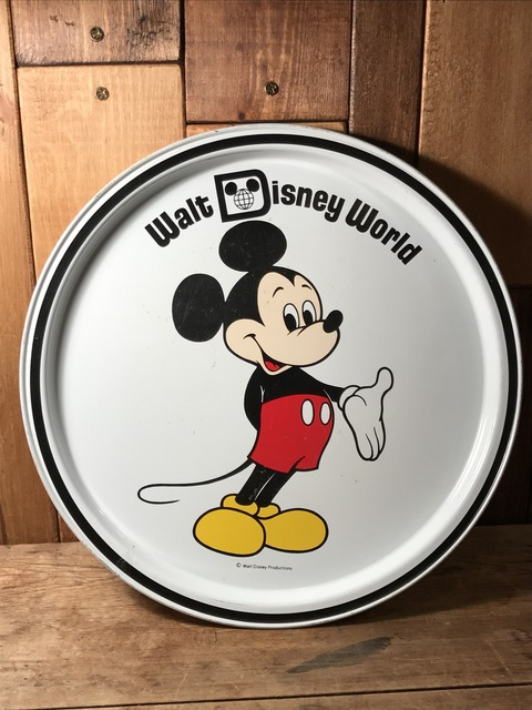 vintage disney world mickey mouse metal tray (2)