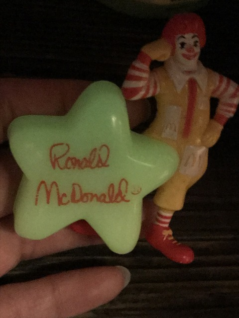 "Vintage McDonald's ""Ronald"" Glow In The Dark Star PVC Figure"