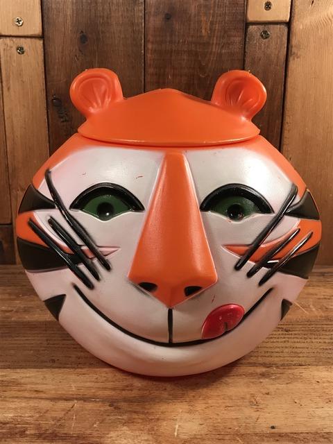 """Vintage Kellogg """"Tony the Tiger"""" Plastic Cookie Jar (1)"""