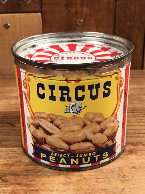 Vintage Circus Peanuts Tin Can