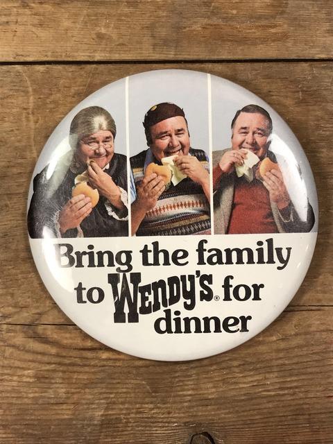 Vintage Wendy's Restaurant Big Pinback (1)