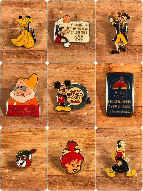 Vintage Character Metal Pins (1)