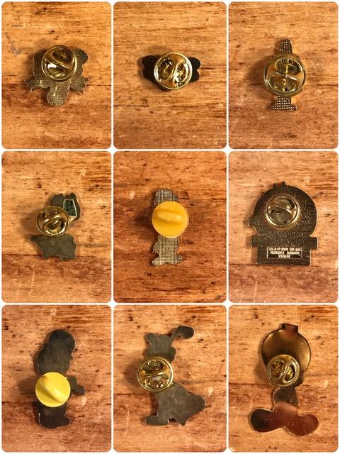 Vintage Character Metal Pins (5)