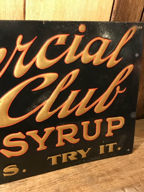 vintage commercial club maple syrup metal sign (15)