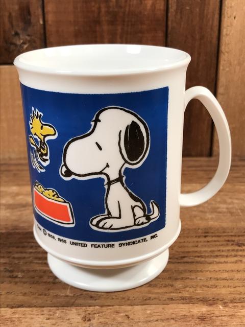Vintage Peanuts Snoopy & Woodstock Plastic Mug (1)