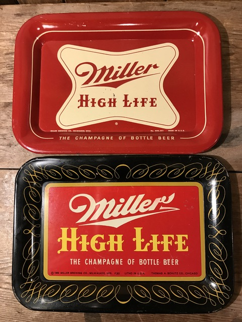 vintage miller high life tin tray (1)