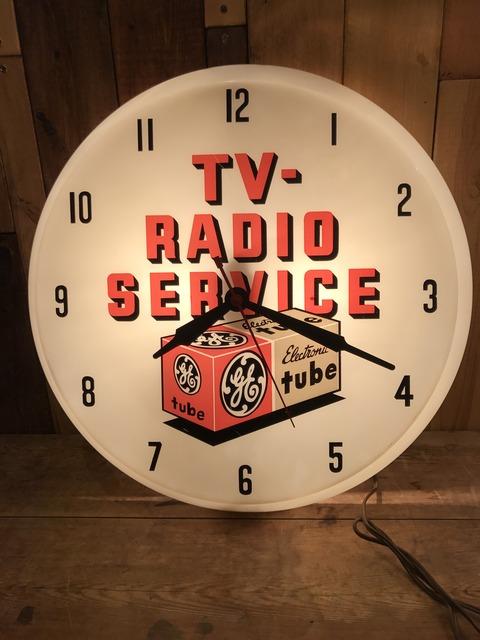 vintage TV radio service lighted wall clock (18)