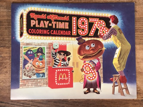 Vintage Ronald McDonald Play-Time Coloring Calendar (6)