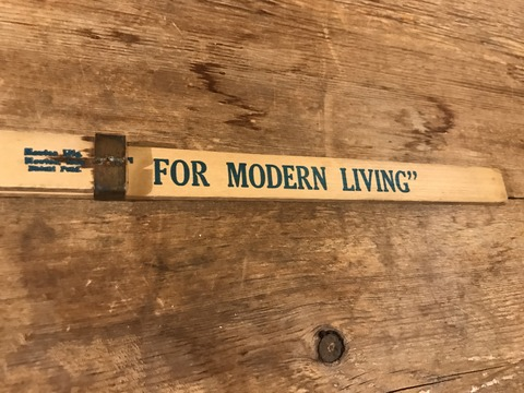 vintage advertising wood sliding yard stick (52)