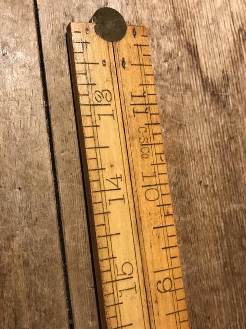 vintage folder wood yard ruler (9)