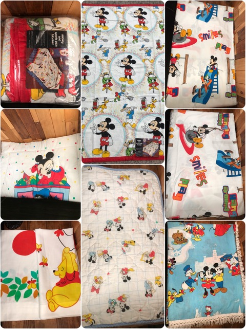 Vintage Disney Mickey and Sports Pals Blanket