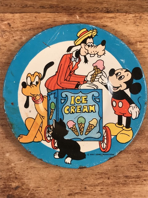 "Vintage Disney ""Ice Cream"" Play house Tin Dish (41)"