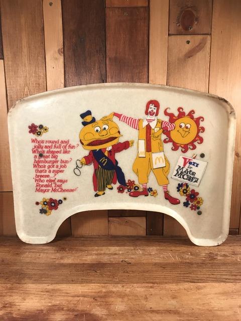Vintage McDonaldland Glass Fiber Kids Tray (1)