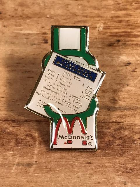 """Vintage McDonald's """"Title Deed Boardwalk"""" Enamel Pins (1)"""