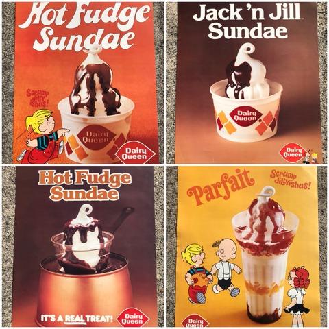 Vintage Dairy Queen Dennis The Menace Poster