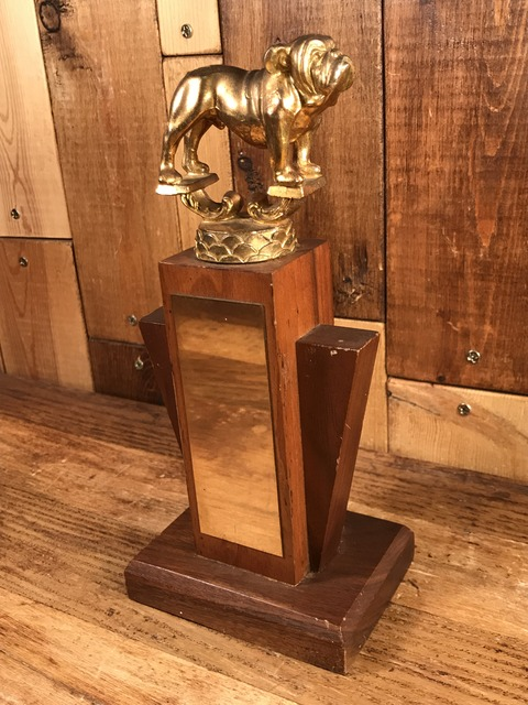 Vintage Bulldog Metal Trophy (2)
