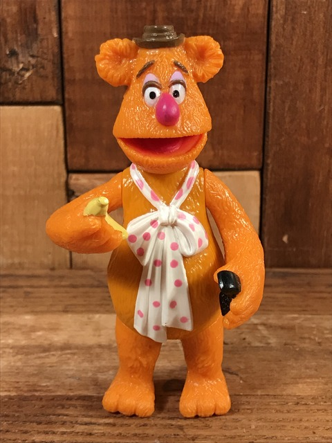 """Vintage Muppets """"Fozzie Bear"""" Jack In The Box Meal Toy (1)"""