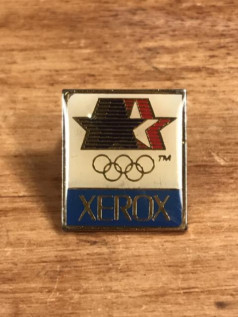 """Vintage Olympic """"Xerox"""" Enamel Pins (1)"""