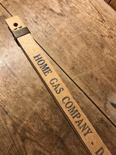 vintage advertising wood sliding yard stick (18)