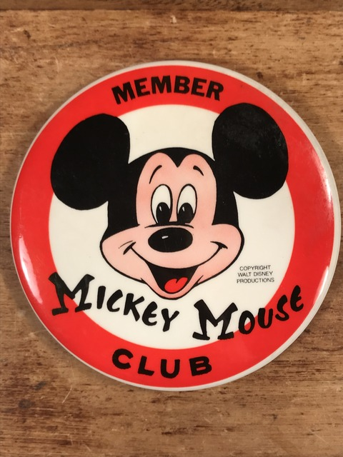 Vintage Disney Mickey Mouse Club Member Metal Pinback (1)