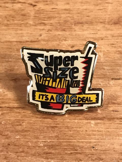 """Vintage McDonald's """"Super Size"""" Enamel Pins (1)"""