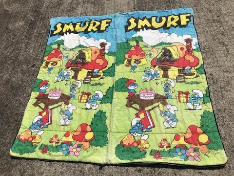 """Vintage Wallace Berrie """"Smurf"""" Sleeping Bag (30)"""