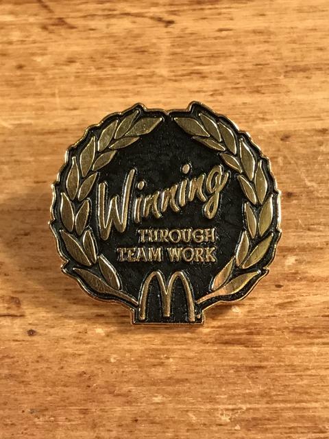 "Vintage McDonald's ""Winning Through Team Work"" Metal Pins (1)"