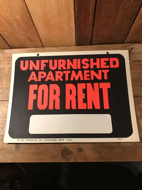 vintage unfurnished apartment for rent hardware sign (1)