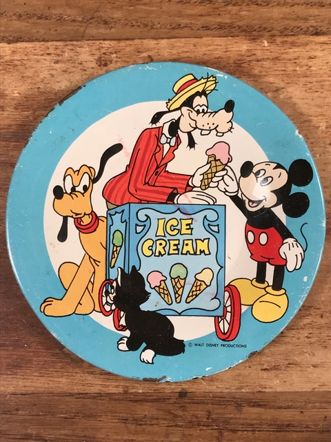 "Vintage Disney ""Ice Cream"" Play house Tin Dish (81)"