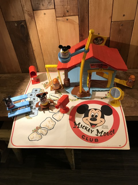 vintage hasbro weebles mickey mouse club house playset  (24)