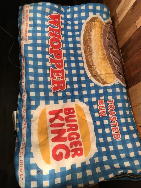 "Vintage Burger King ""Whopper"" Sleeping Bag"