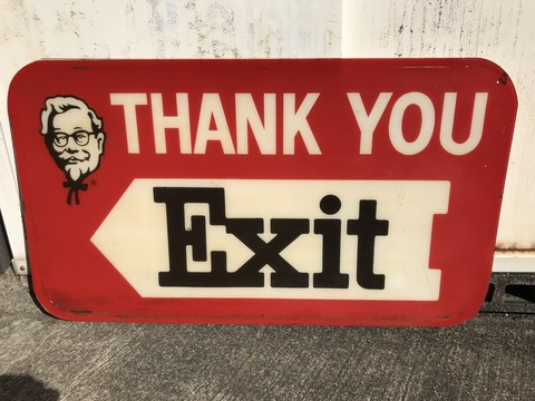 Vintage Kentucky Fried Chicken Plastic Sign (7)