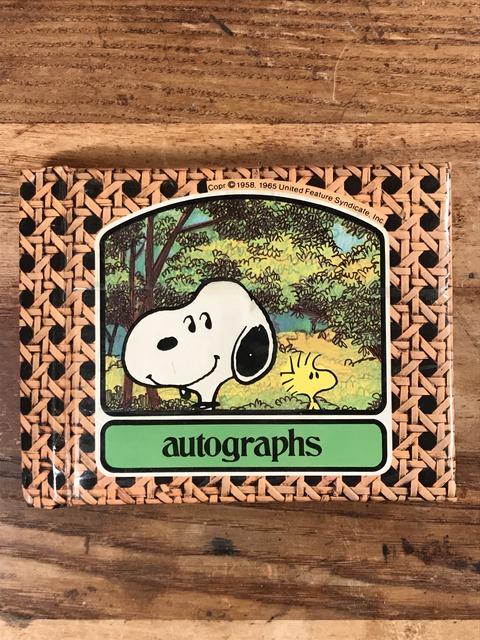 Vintage Peanuts Snoopy Autographs Memo Book (1)