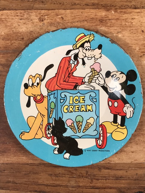 "Vintage Disney ""Ice Cream"" Play house Tin Dish (97)"