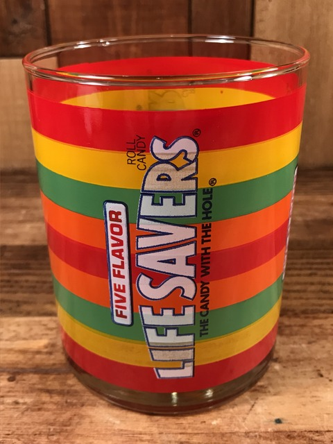"Vintage Five Flavor Roll Candy ""Life Savers"" Glass (1)"