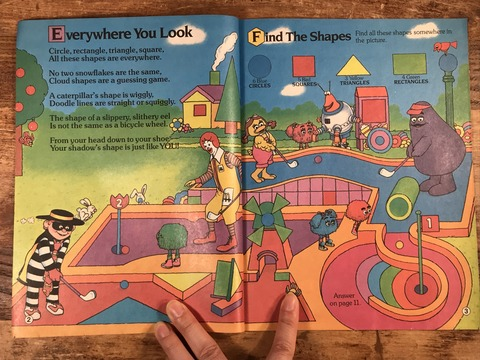 "Vintage McDonaldland Fun Times ""Fun With Shapes"" Magazine (9)"