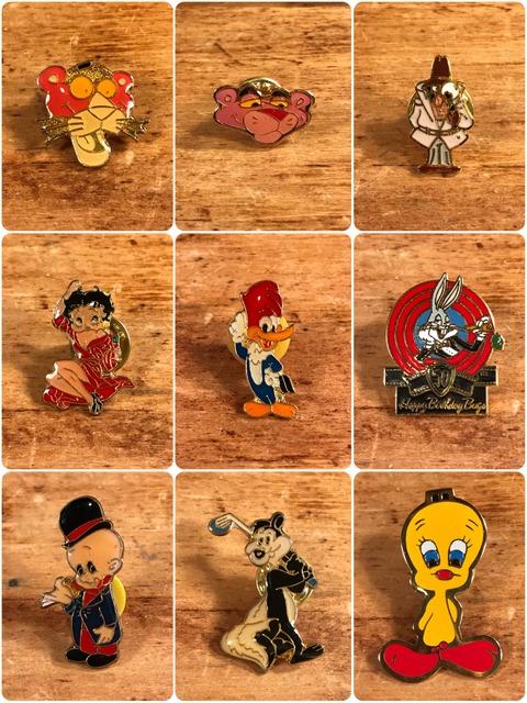 Vintage Character Metal Pins (2)