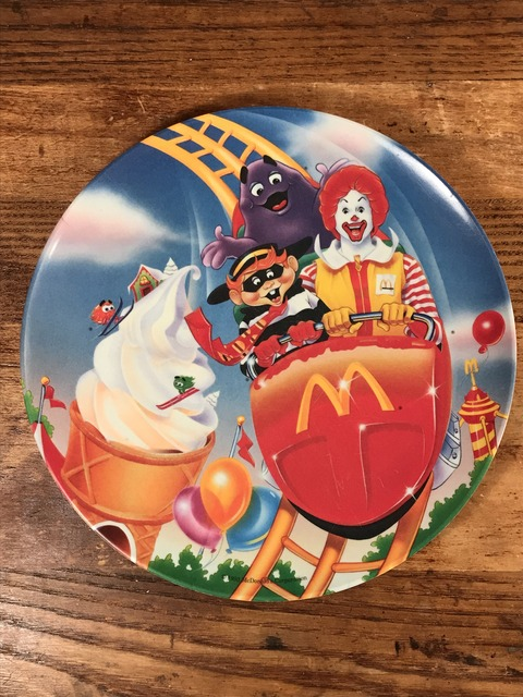 "Vintage McDonald's ""Roller Coaster"" Plastic Plate (1)"