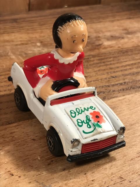 "Vintage Matchbox Popeye ""Olive"" Die Cast Mini Car (3)"