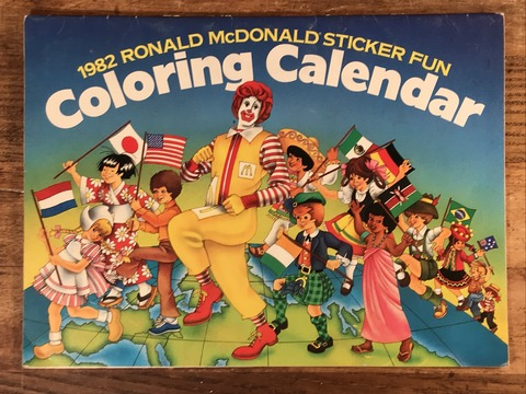 Vintage Ronald McDonald Sticker Fun Coloring Calendar (2)